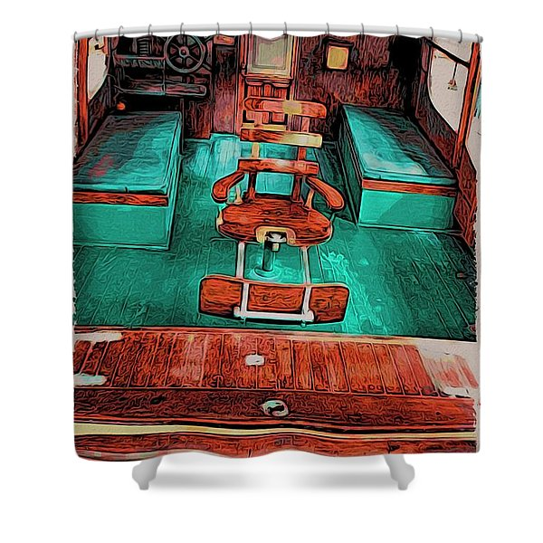 Cuba Hemingway Pilar Shower Curtain