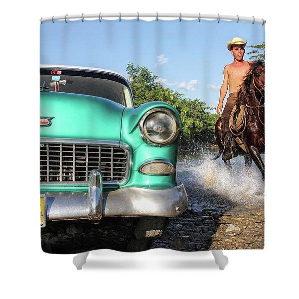 Cuban Horsepower Shower Curtain