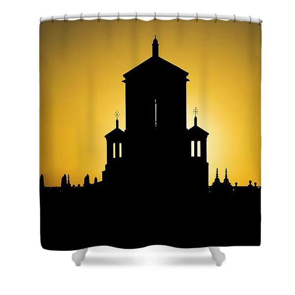 Cuban Landmark. Shower Curtain
