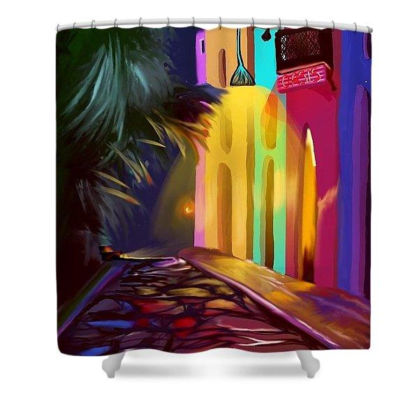 Cubano Street Shower Curtain