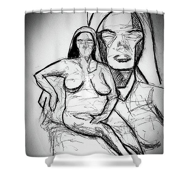 Cubism Study 4626 Shower Curtain