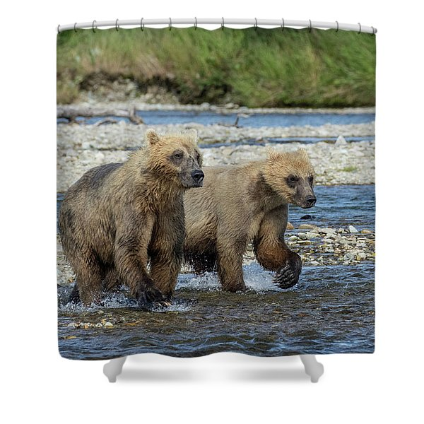 Cubs On The Prowl Shower Curtain