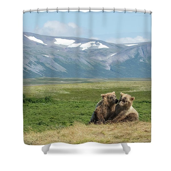 Cubs Playing On The Bluff Shower Curtain
