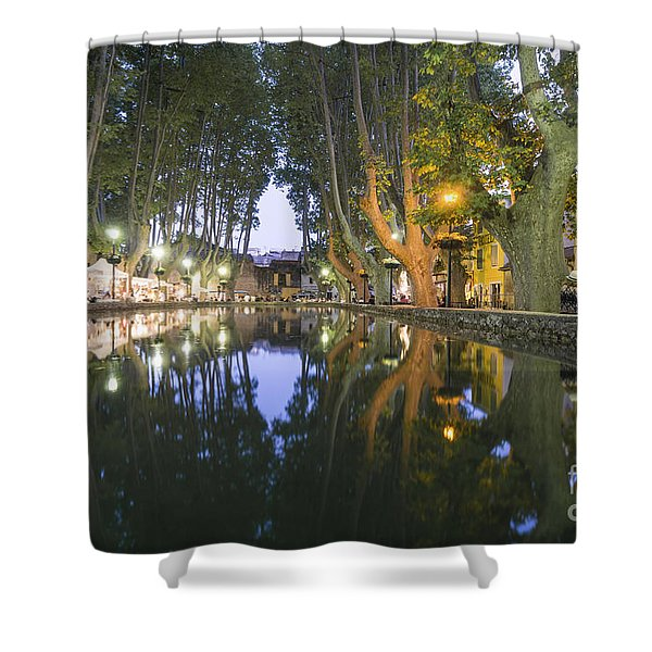 Shower Curtain featuring the photograph Cucuron Village Provence  by Juergen Held