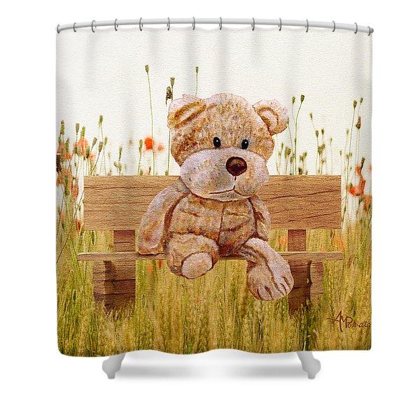 Cuddly In The Garden Shower Curtain