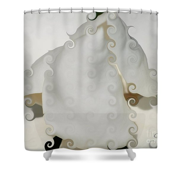 Culicue Magnolia Macro Shower Curtain