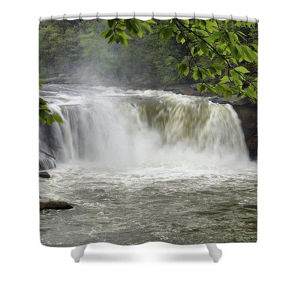 Cumberland Falls Close-up Shower Curtain