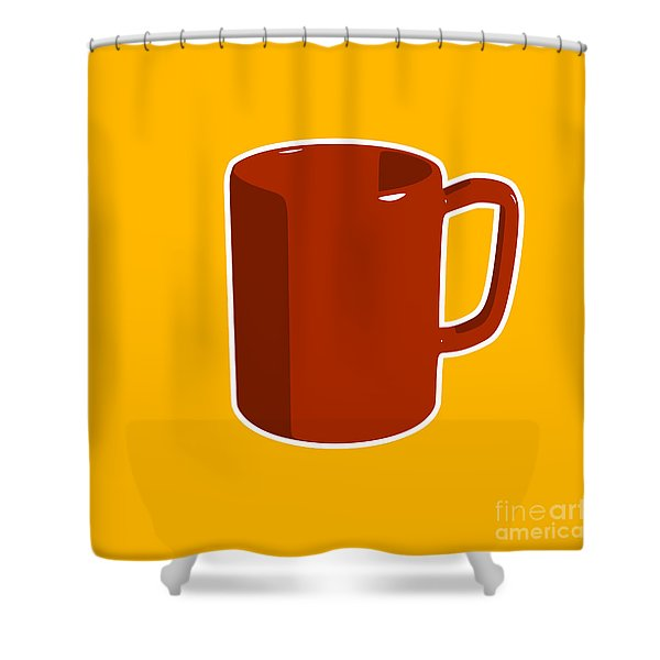 Cup Of Coffee Graphic Image Shower Curtain