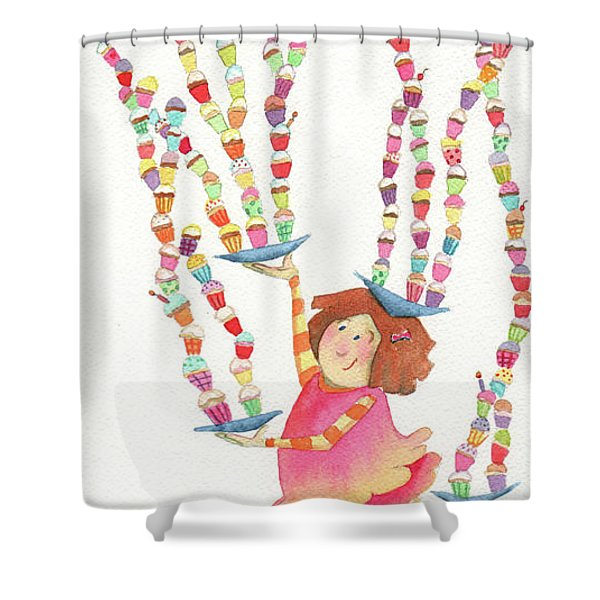 Cupcake Party Shower Curtain