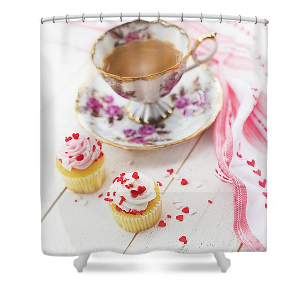 Cupcakes And Coffee Shower Curtain
