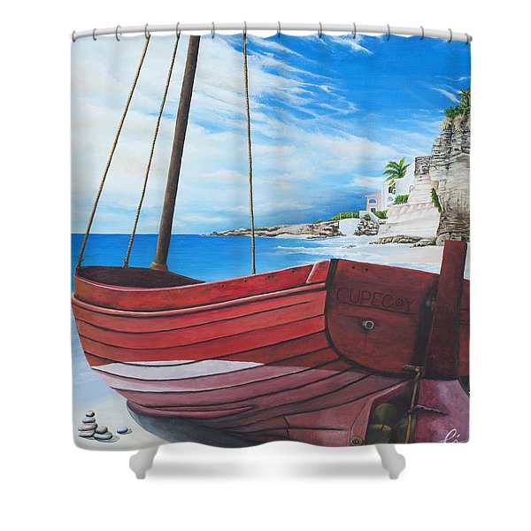 Cupecoy Beach Shower Curtain