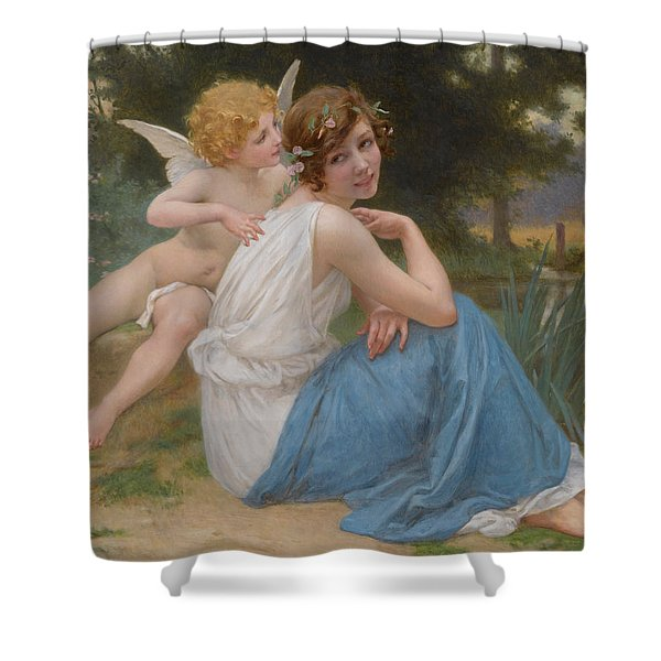 Cupid And Psyche Shower Curtain