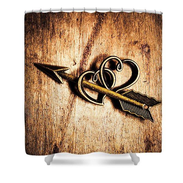 Cupid Arrow And Hearts Shower Curtain