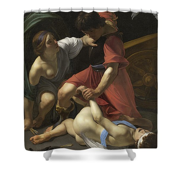 Cupid Chastised Shower Curtain