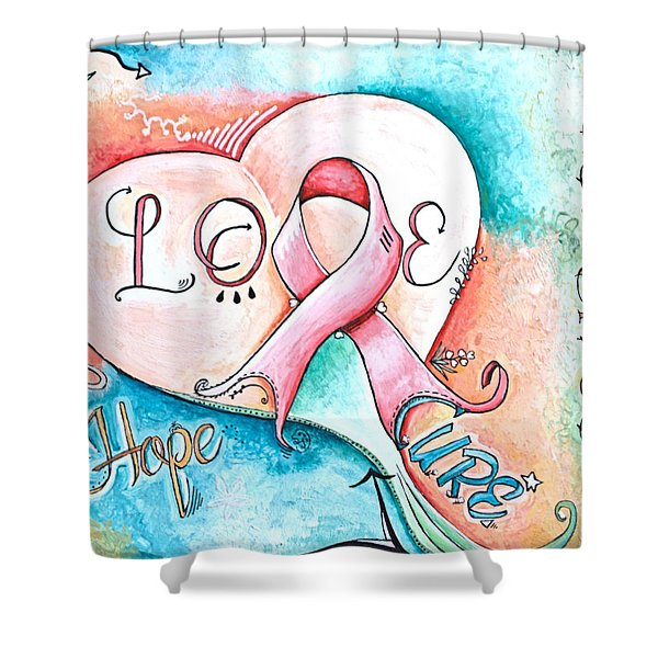 Cure Breast Cancer Shower Curtain