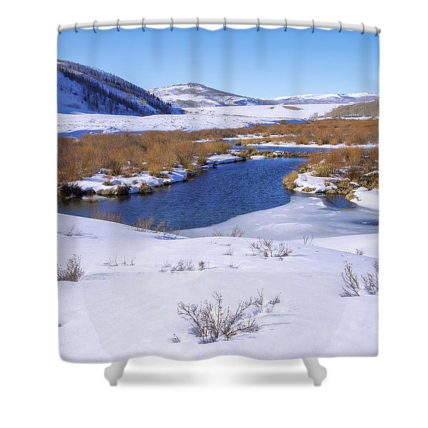 Currant Creek On Ice Shower Curtain