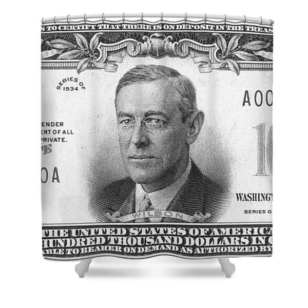 Currency: 100,000 Dollar Bill Shower Curtain
