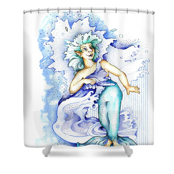 Real Fake News Current Trends Columnist Shower Curtain