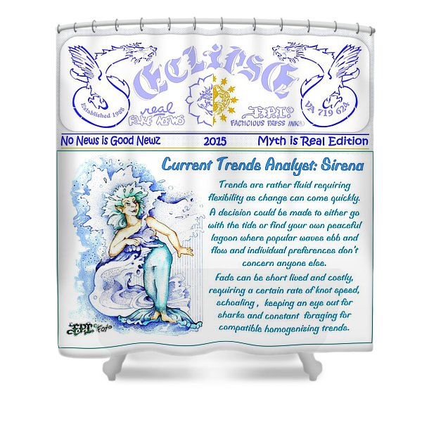 Real Fake News Current Trends Shower Curtain
