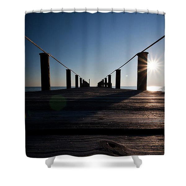 Currituck Sunset Shower Curtain