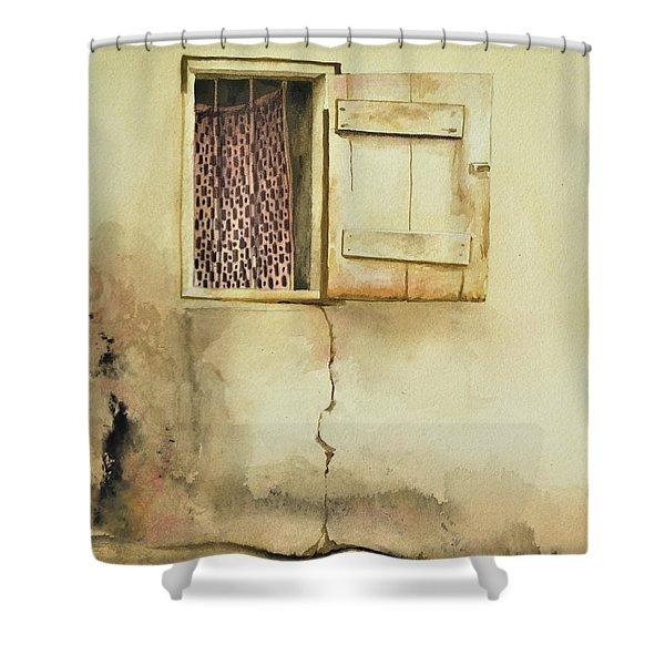 Curtain In Window Shower Curtain