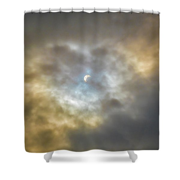 Curtain Of Clouds Eclipse Shower Curtain