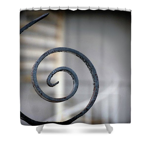 Curve Of Iron Shower Curtain