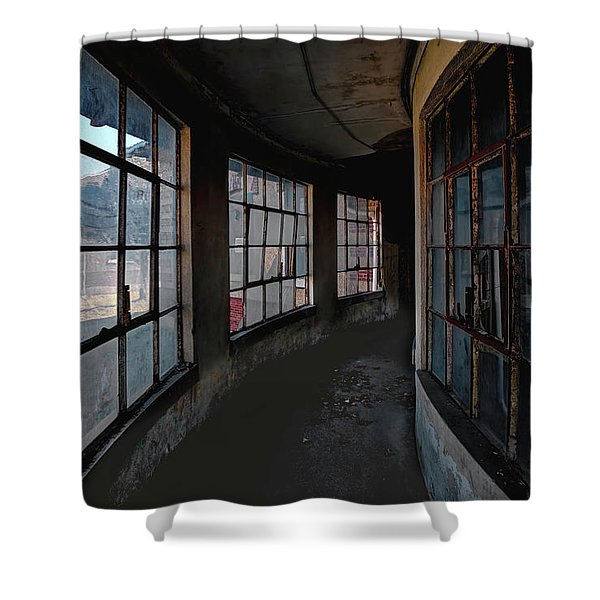 Shower Curtain featuring the photograph Curved Hallway by Tom Singleton
