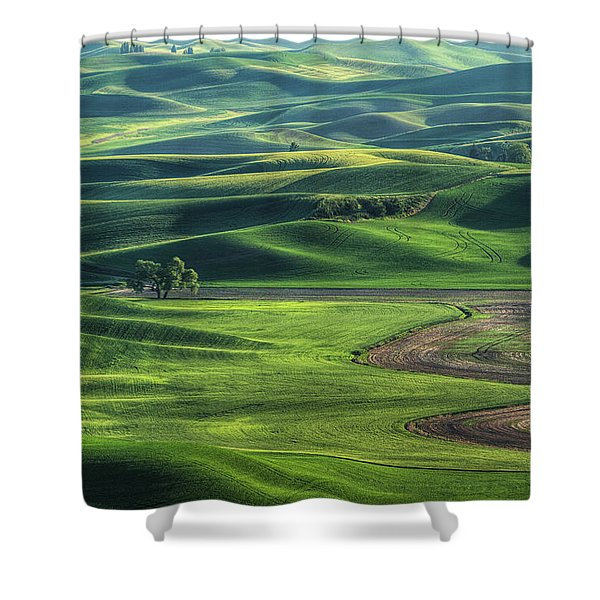 Curves Of The Palouse Shower Curtain