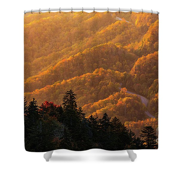 Smoky Mountain Roads Shower Curtain