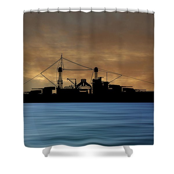 Cus Rhode Island 1928 V2 Shower Curtain