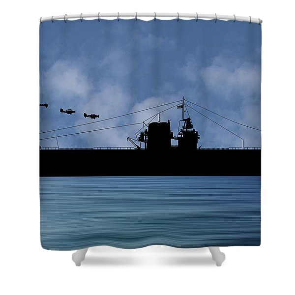 Cus Rhode Island 1930 V1 Shower Curtain
