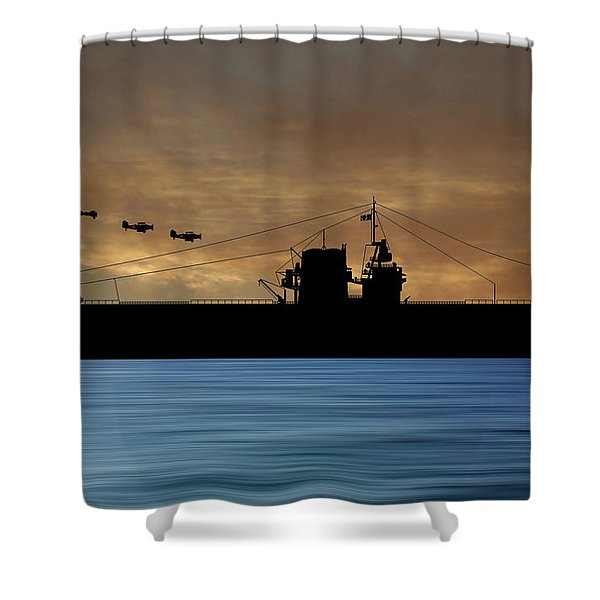 Cus Rhode Island 1930 V2 Shower Curtain