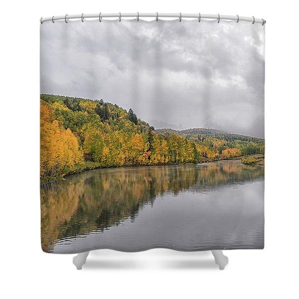 Cushman Lake  Shower Curtain