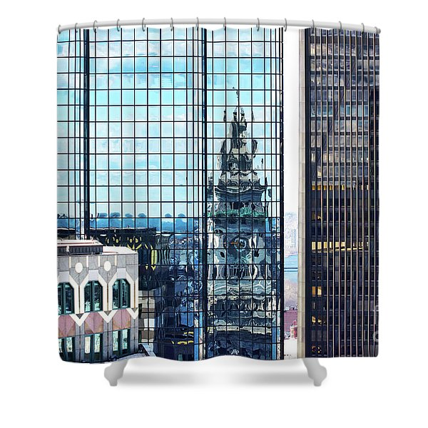 Custom House Reflection Shower Curtain