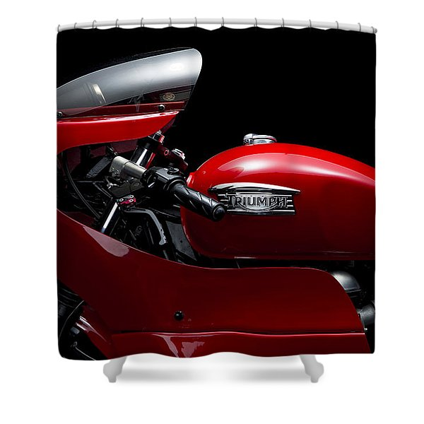 Custom Thruxton Shower Curtain