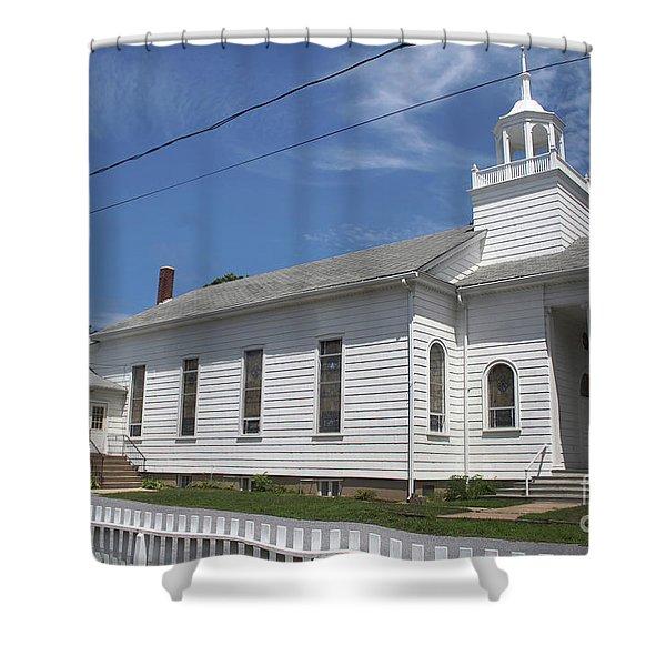 Cutchogue United Methodist Church Shower Curtain
