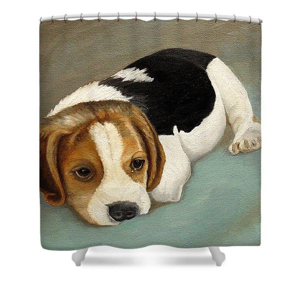Cute Beagle Shower Curtain