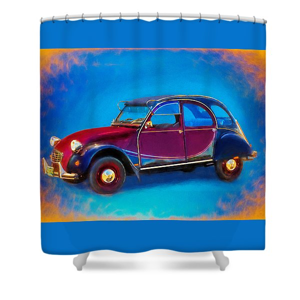 Cute Little Car Shower Curtain