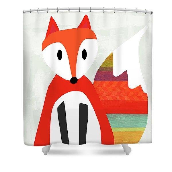 Cute Red Fox 2- Art By Linda Woods Shower Curtain