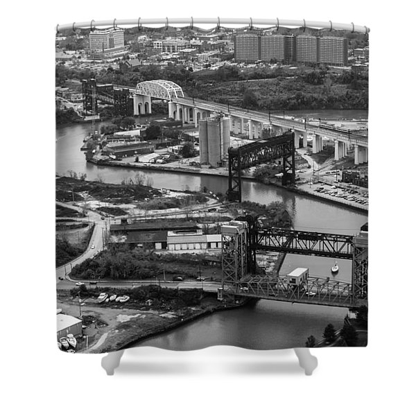 Cuyahoga River Shower Curtain