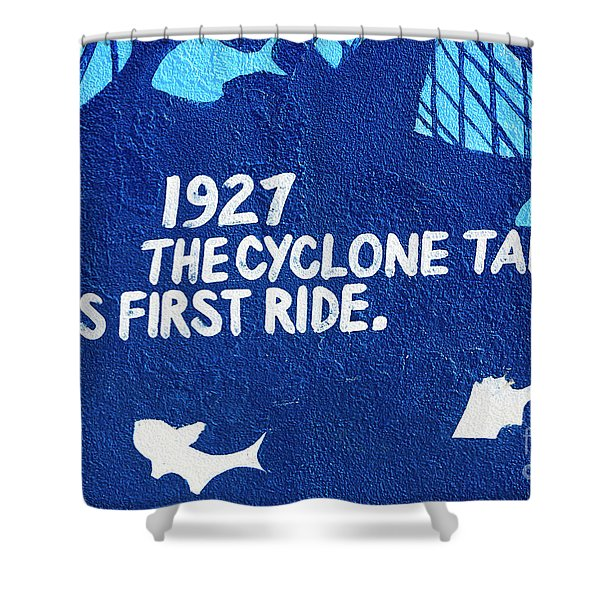 Cyclone Takes Its First Ride Shower Curtain