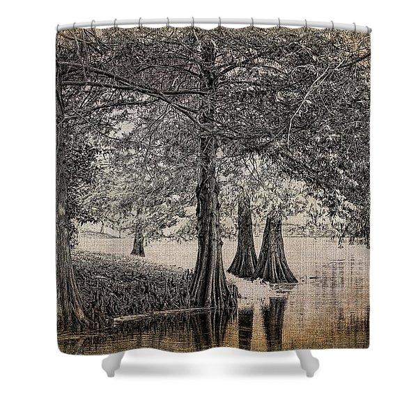 Cypress Retreat Shower Curtain