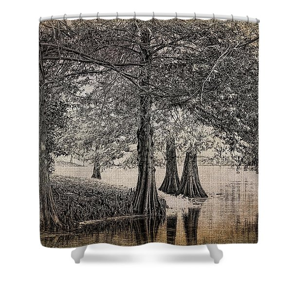 Cypress Retreat Shower Curtain