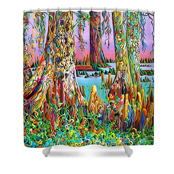 Cypress Spirit Rising Shower Curtain