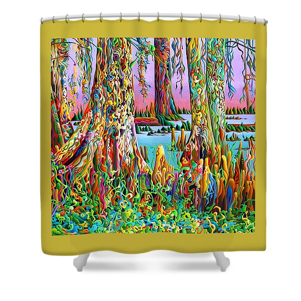 Cypress Spirit Rising Shower Curtain