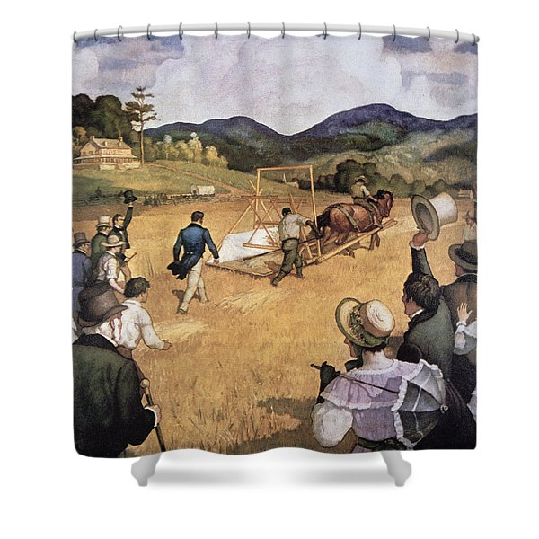 Cyrus H Mccormick And His Reaping Machine Shower Curtain