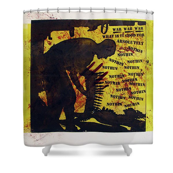 D U Rounds Project, Print 3 Shower Curtain