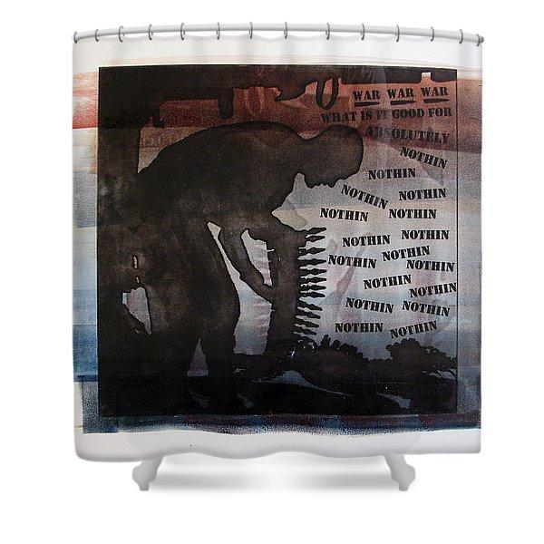 D U Rounds Project, Print 4 Shower Curtain