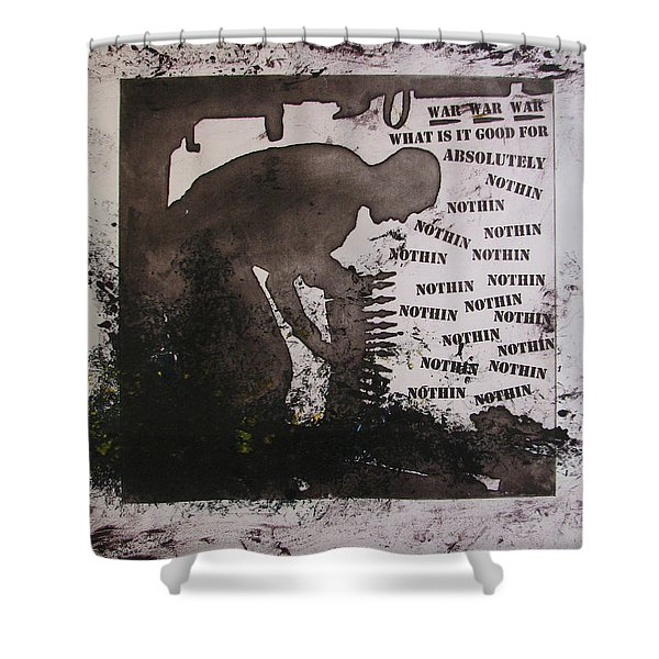 D U Rounds Project, Print 13 Shower Curtain